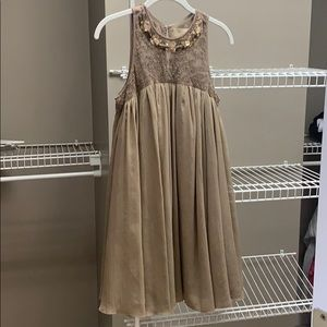 Dress dark tan